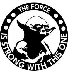 Stickers humour The Force