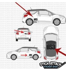 Stickers DS3 Racing + toit