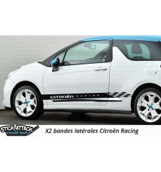 Stickers bandes latérales DS3 Citroën Racing