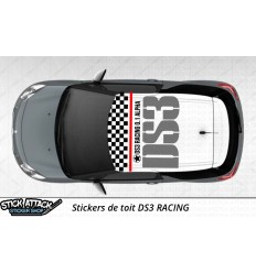Stickers de toit DS3 Racing