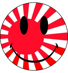 Stickers humour smiley japon