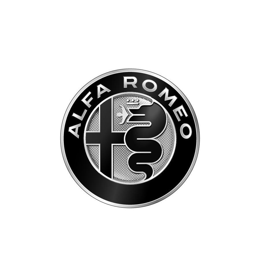 stickers logo alfa romeo noir prix mini. Black Bedroom Furniture Sets. Home Design Ideas