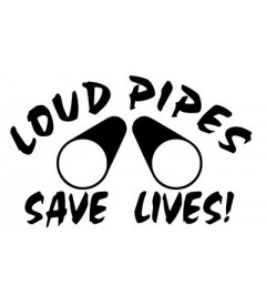 Sticker Loud Pipes