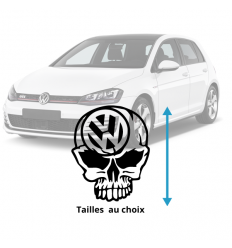Stickers VW Skull