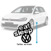 Stickers Eat Sleep VW