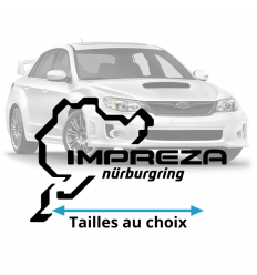 Stickers Impreza Nurburgring