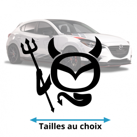 Stickers Mazda diable