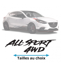 Stickers Mazda All - Sport 4WD