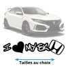 Stickers honda EK Love