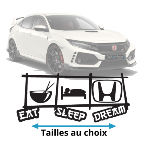 Stickers honda Eat Sleep Dream