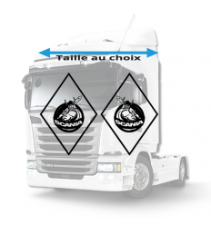 Stickers Losanges Scania Vide