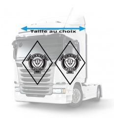 Stickers Losanges Scania Vabis V8 Vide