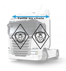 Stickers Losanges Scania Rond Vide
