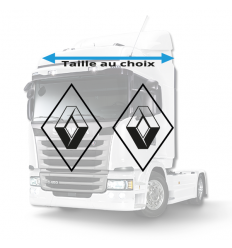 Stickers Losanges Renault Vide