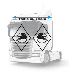 Stickers Losanges Iveco Vide
