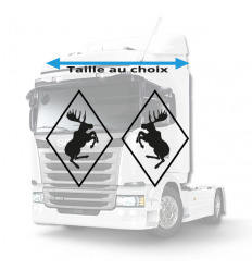 Stickers Losanges Cerf Volvo Vide
