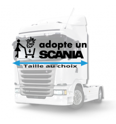 Stickers adopte un scania