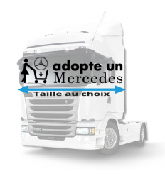 Stickers adopte un mercedes