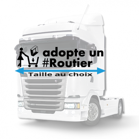 Stickers adopte un routier renault