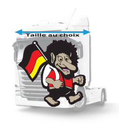 Stickers troll drapeau Allemagne