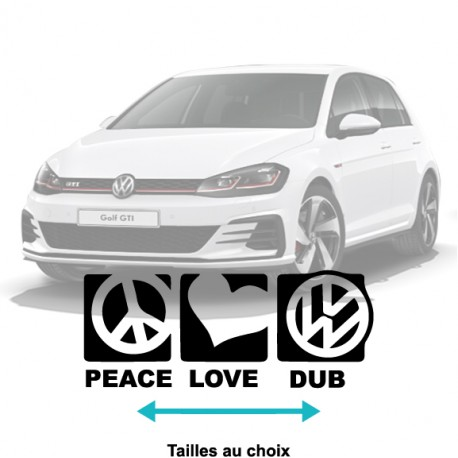 Stickers Peace Love Dub