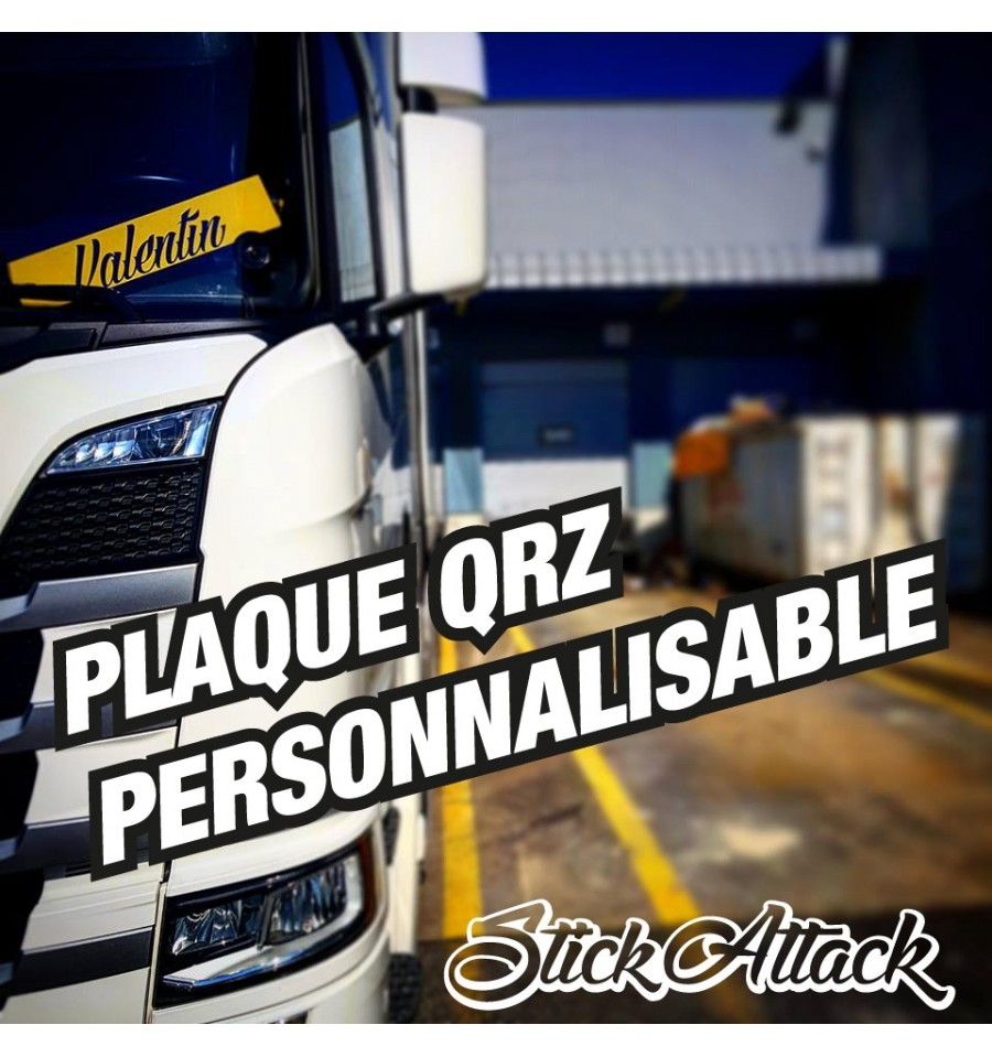 plaque qrz camion 100 personnalisable. Black Bedroom Furniture Sets. Home Design Ideas