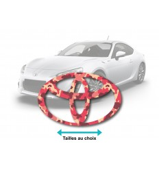 Stickers Logo Toyota camouflage rose