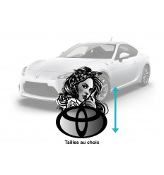 Stickers toyota pin up