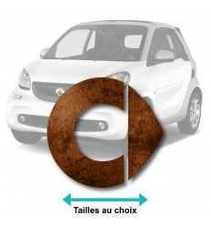 Stickers logo smart rouille