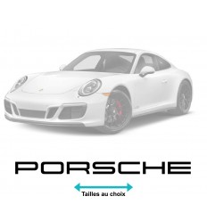 Stickers Porsche écriture