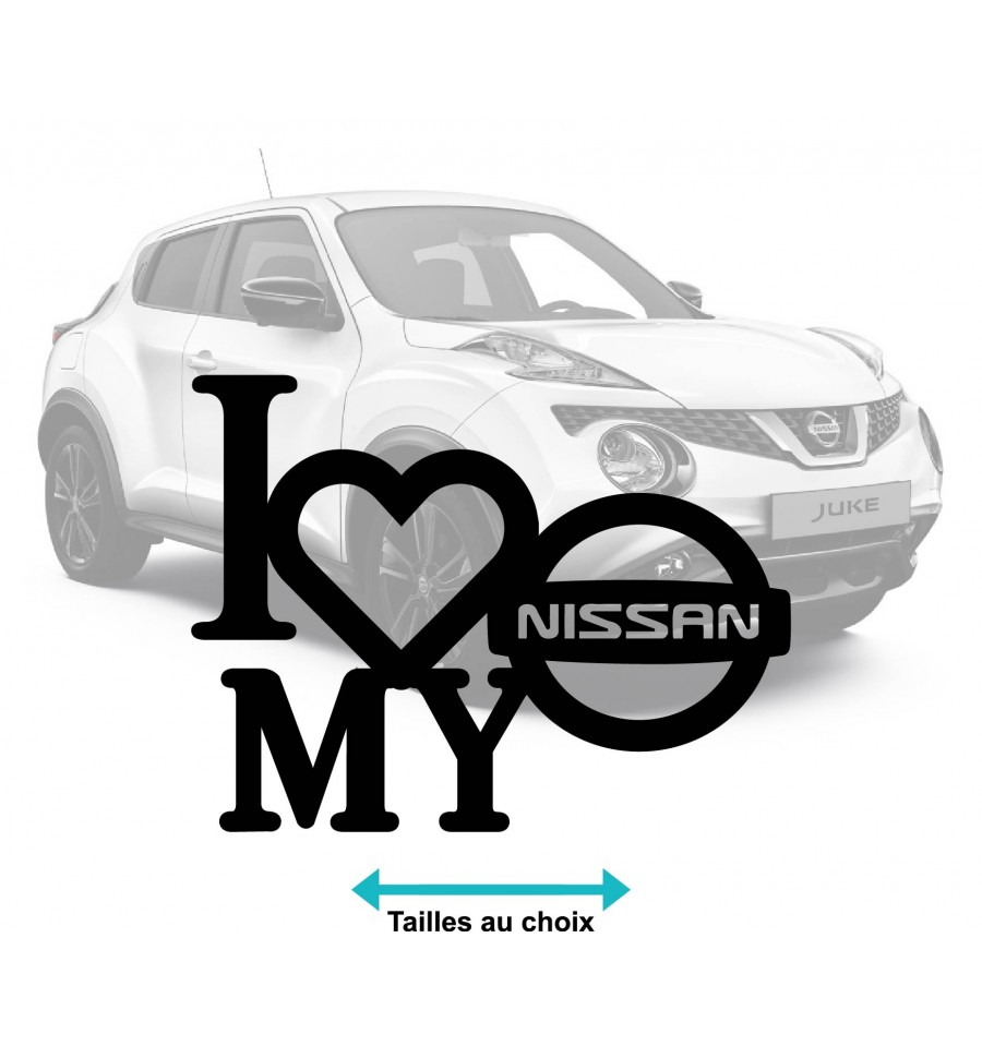 Stickers autocollant i love nissan
