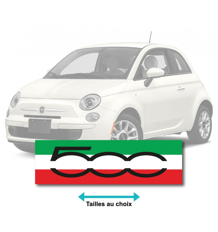 stickers fiat 500 drapeau italie. Black Bedroom Furniture Sets. Home Design Ideas