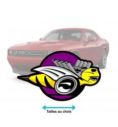 Stickers Dodge super bee couleur