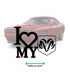 Stickers autocollant I Love Dodge