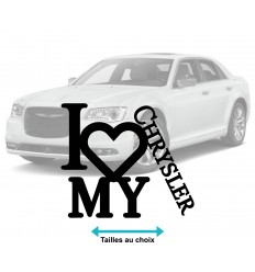 Stickers autocollant I Love Chrysler
