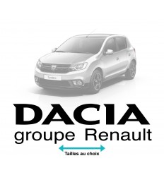 Stickers dacia groupe renault