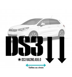 Stickers déco citroen DS3 2