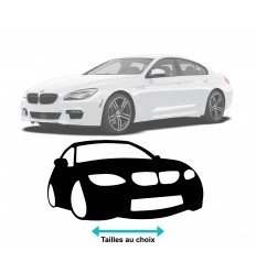 Stickers silhouette BMW face