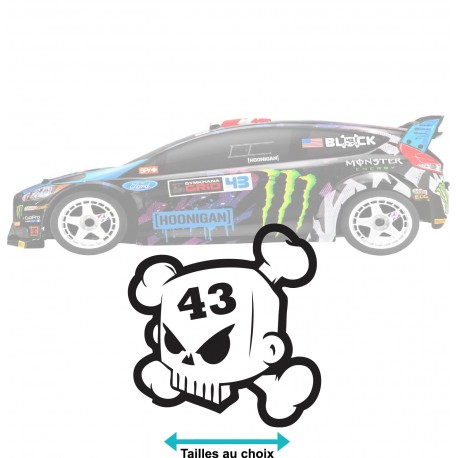 Stickers Ken block tête de mort 43