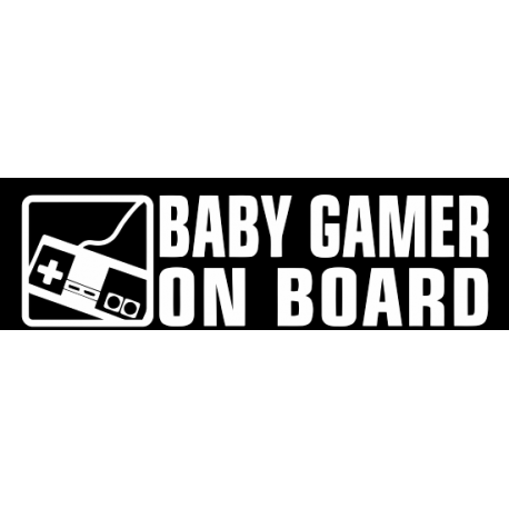 Stickers bébé à bord Baby Gamer