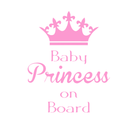Stickers bébé à bord Baby Princess