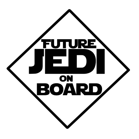 Stickers bébé à bord Future Jedi