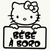 Stickers bébé à bord Hello Kitty