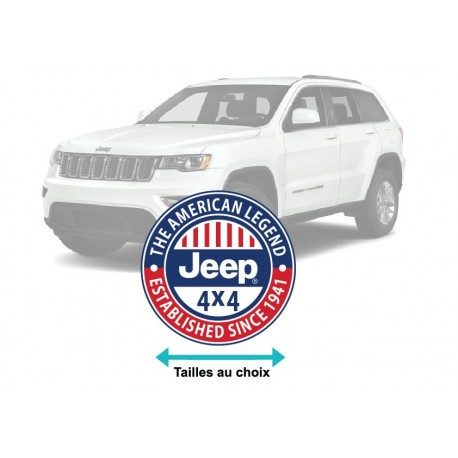Logo JEEP 4X4 The american legend
