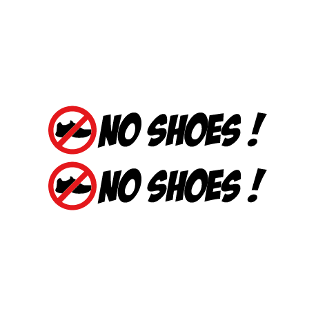 No Shoes !