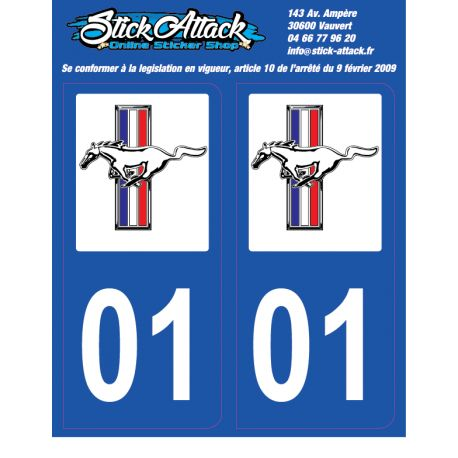 2x Stickers plaque Mustang 01