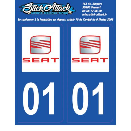 2x Stickers plaque Seat 01