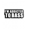Stickers Addicted to bass musique
