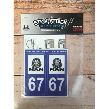 Stickers de plaque MAN 67