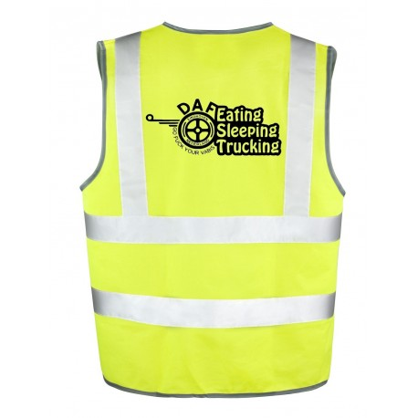 Gilet Jaune DAF eating sleeping trucking
